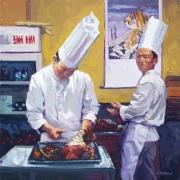 Preparing Peking Duck