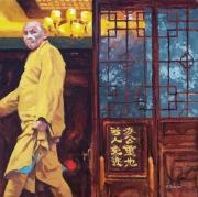 Monk In Saffron Robe